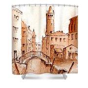 Venice Backwater Shower Curtain