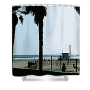 Venice Beach California Shower Curtain by Phill Petrovic