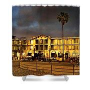 Venice Beach. Golden Sunset Shower Curtain