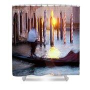 Venice Blue Hour 1 Shower Curtain