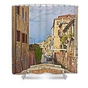Venice Bridge Crossing 1 Shower Curtain
