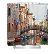 Venice Bridge Crossing 5 Shower Curtain