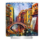 Venice Bridge Shower Curtain