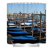 Venice Cab Stand Shower Curtain