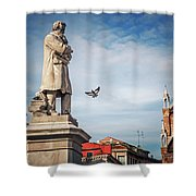 Venice - Campo Santo Stefano Shower Curtain