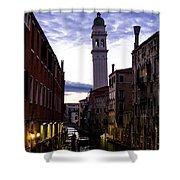 Venice Canal At Dusk Shower Curtain