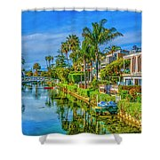 Venice Canals And Houses 4 Shower Curtain