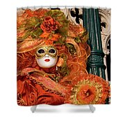 Venice Carnival Mask Italy Shower Curtain