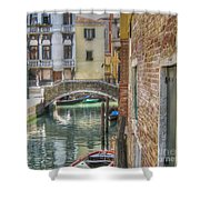 Venice Channels1  Shower Curtain