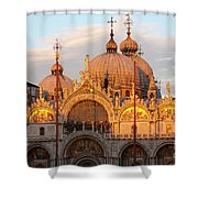 Venice Church Of St. Marks At Sunset Shower Curtain