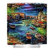 Venice Coming And Going Shower Curtain