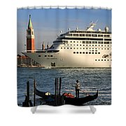 Venice Cruise Ship 2 Shower Curtain by Andrew Fare