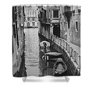 Venice Docked Boats Shower Curtain