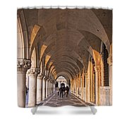 Venice - Doge's Palace Arcade Shower Curtain