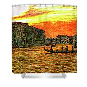 Venice Eventide Shower Curtain