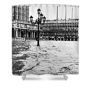 Venice: Flood, 1966 Shower Curtain