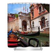Venice From A Gondola Shower Curtain