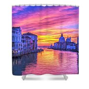 Venice Grand Canal At Sunset Shower Curtain