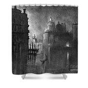 Venice, Grand Canal, C1905.  Shower Curtain