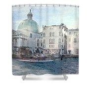 Venice Grand Canal Watercolour  Shower Curtain