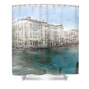 Venice Grand Canal Watercolour Painting Shower Curtain