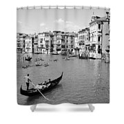 Venice In Black And White Shower Curtain