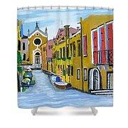 Venice In September Shower Curtain