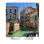Venice Italy Canal And Lovely Old Houses Shower Curtain