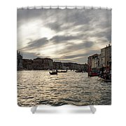 Venice Italy - Pearly Skies On The Grand Canal Shower Curtain