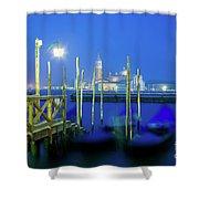 Venice Lagoon At Dusk Shower Curtain