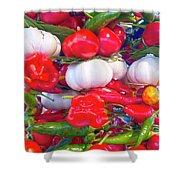 Venice Market Goodies Shower Curtain