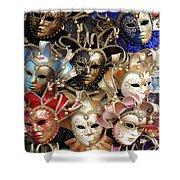 Venice Masks Shower Curtain