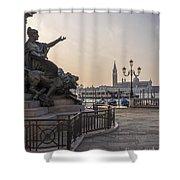 Venice - Monumento Nazionale A Vittorio Emanuele  Shower Curtain