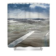 Venice Northern Lagoon  Shower Curtain