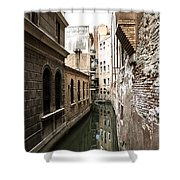 Venice One Way Street Shower Curtain by Milan Mirkovic
