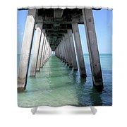 Venice Pier - Florida Shower Curtain