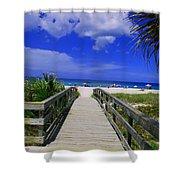Venice Pier Venice Florida Shower Curtain