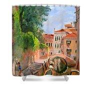 Venice Ponte Moro Shower Curtain