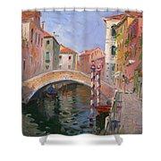 Venice Ponte Vendrraria Shower Curtain