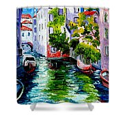 Venice Reflection Shower Curtain
