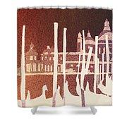 Venice Reversed Shower Curtain
