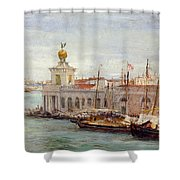 Venice Shower Curtain by Sir Samuel Luke Fields