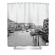 Venice Taxi Ride Shower Curtain