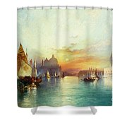 Venice Shower Curtain by Thomas Moran