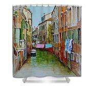 Venice Washing Day Shower Curtain