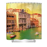 Venice Water Taxis Shower Curtain