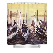 Venice Watercolor- Italy Shower Curtain