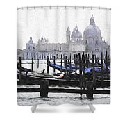 Venice Waterfront Shower Curtain
