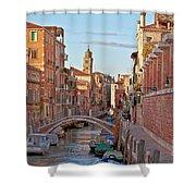 Venice Waterway Shower Curtain