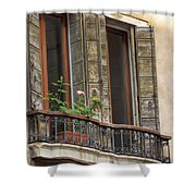 Venice Windows And Shutters Shower Curtain